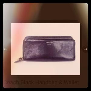 Gently used black leather COACH wallet